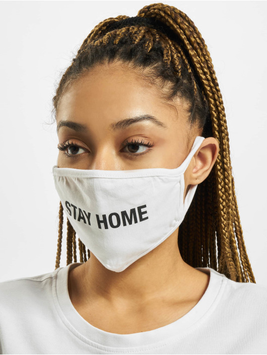 Mister Tee More Stay Home Face Mask white