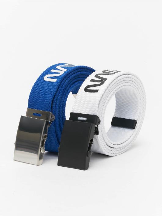 Mister Tee Paski NASA Belt 2-Pack Extra Long niebieski