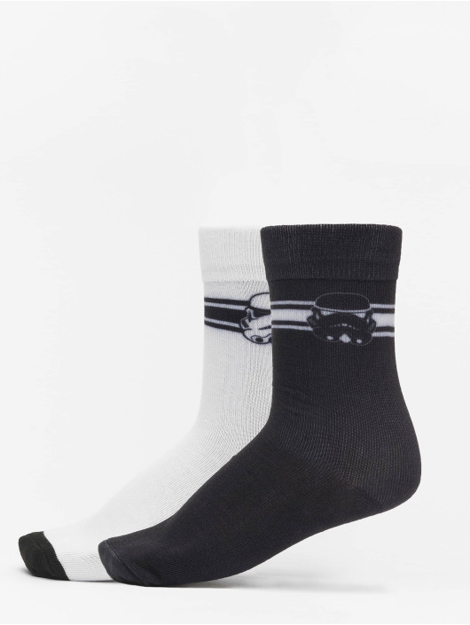 Mister Tee Ponožky Stormtrooper Head 2-Pack čern