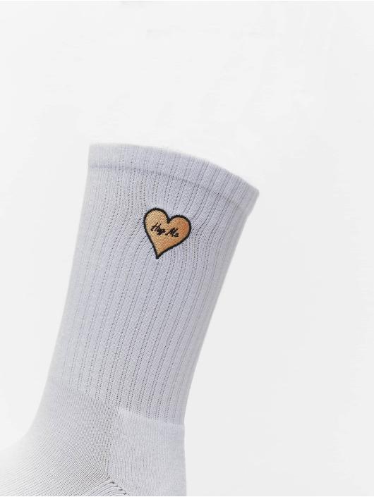 Mister Tee Ponožky Heart Embroidery 3 Pack bílý