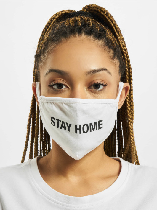 Mister Tee Pozostałe Stay Home Face Mask bialy