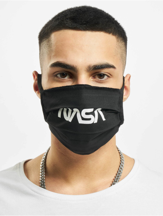 Mister Tee Pozostałe Nasa Face Mask czarny