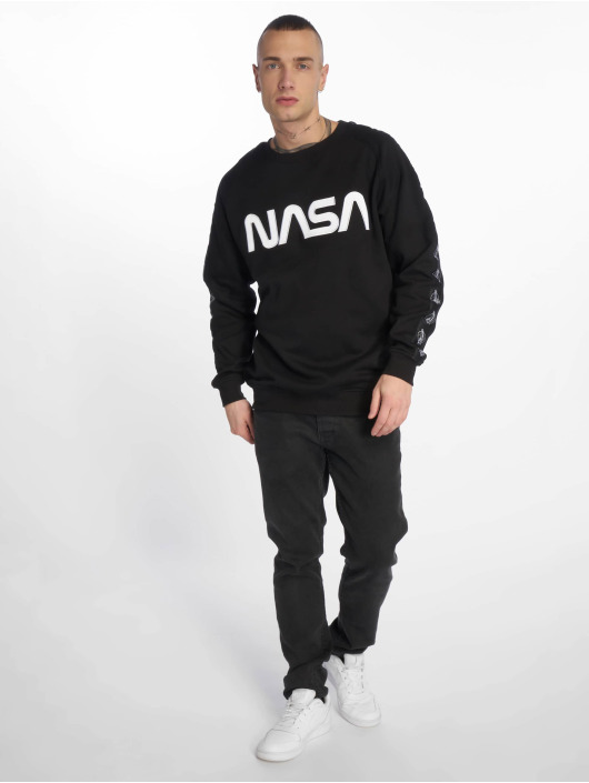 Mister Tee Pullover Nasa Wormlogo Rocket Tape black