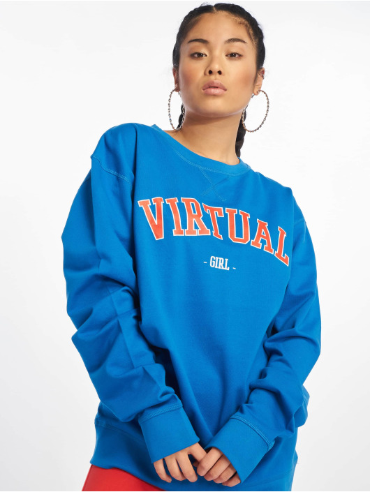 Mister Tee Pullover Virtual Girl blau