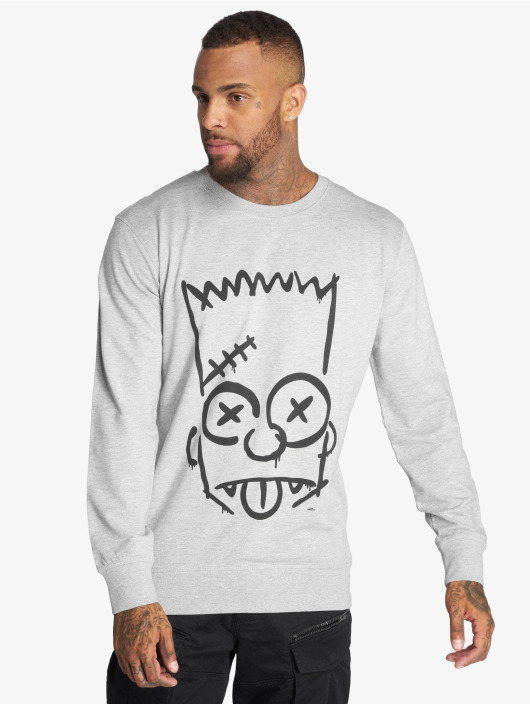 Mister Tee Pullover Simpsons Graphity grau