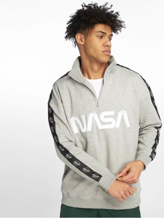 Mister Tee Pullover Nasa Wormlogo Troyer Astronaut gray