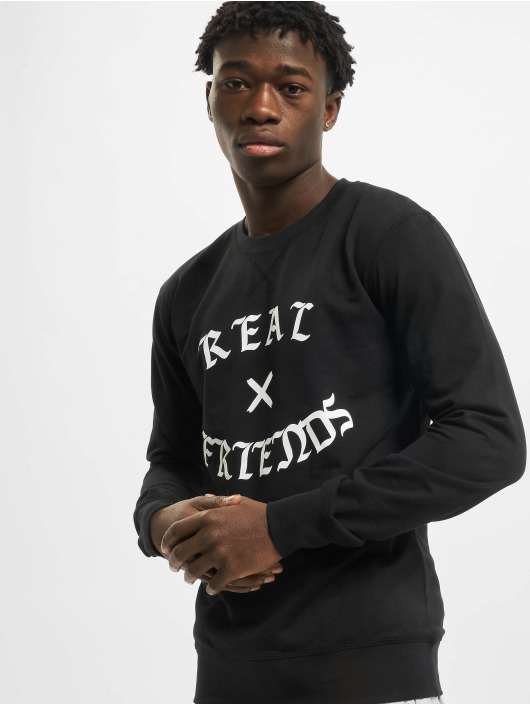 Mister Tee Pullover Real Friends schwarz
