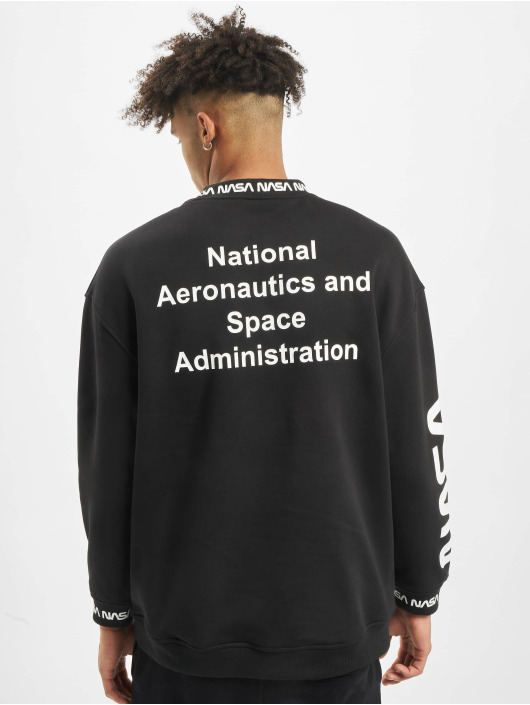 Mister Tee Pullover NASA Oversize schwarz