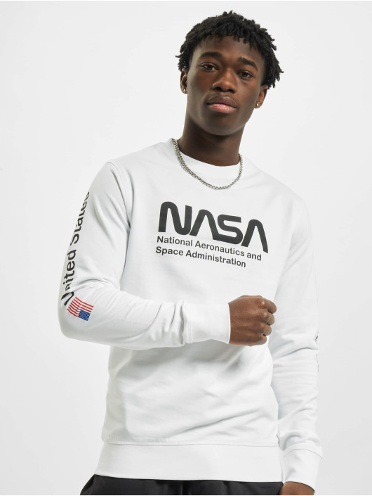 Mister Tee Pullover NASA weiß