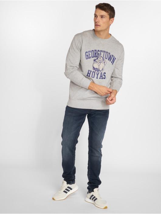 Mister Tee Pulóvre Mister Tee Georgetown Hoyas Sweatshirt šedá