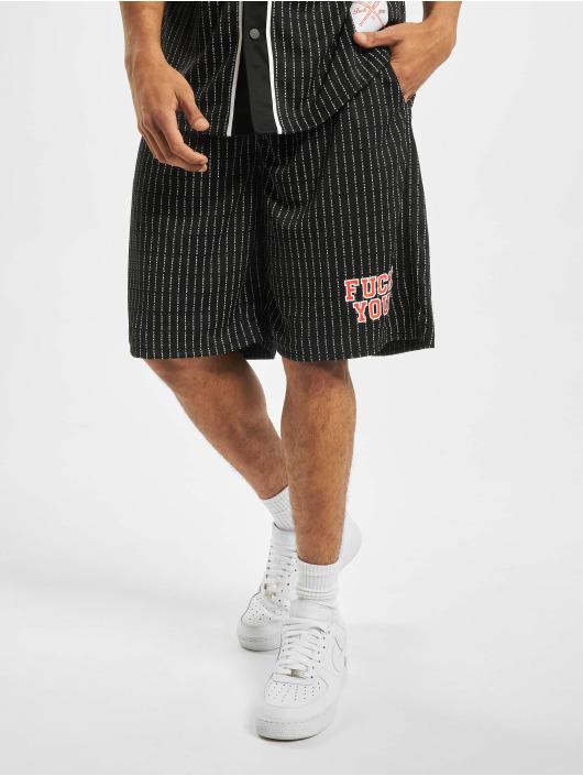 Mister Tee shorts Fuckyou Mesh zwart