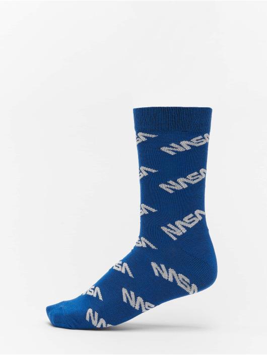Mister Tee Skarpetki Nasa Allover Socks 3-Pack niebieski