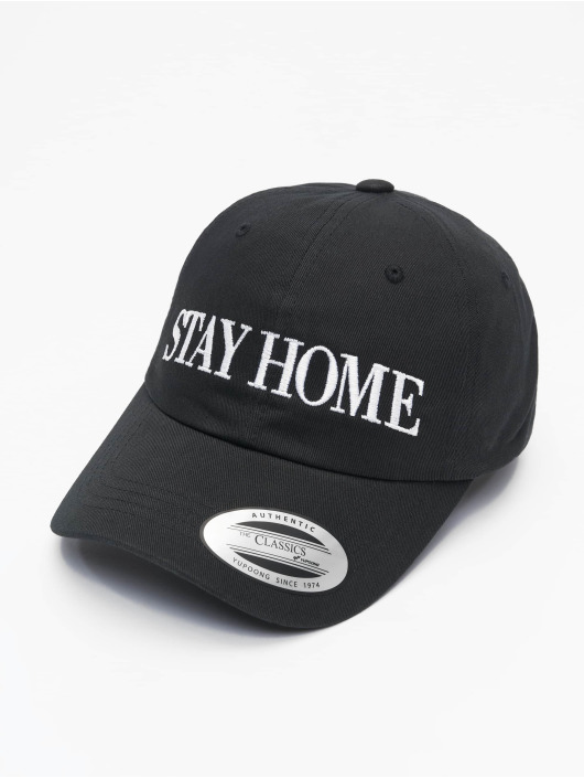 Mister Tee Snapback Caps Stay Home Emb čern