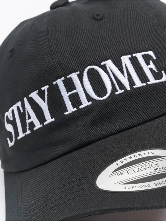Mister Tee Snapback Caps Stay Home Emb czarny
