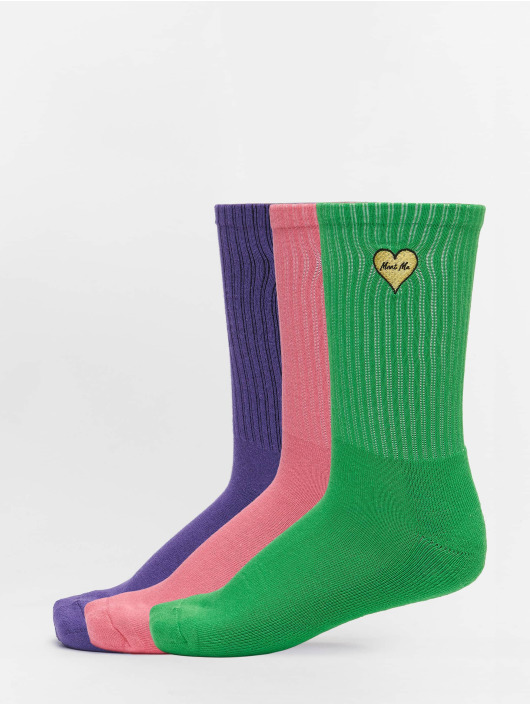 Mister Tee Socks Heart Embroidery 3 Pack colored