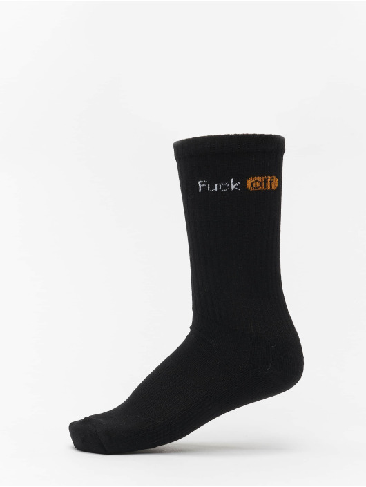 Mister Tee Sokker Fuck Off 6-Pack svart