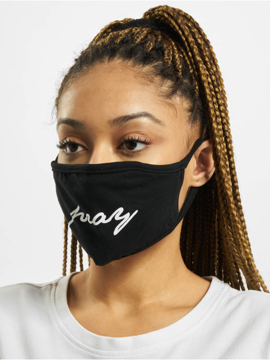 Mister Tee Sonstige Pray Wording Face Mask schwarz