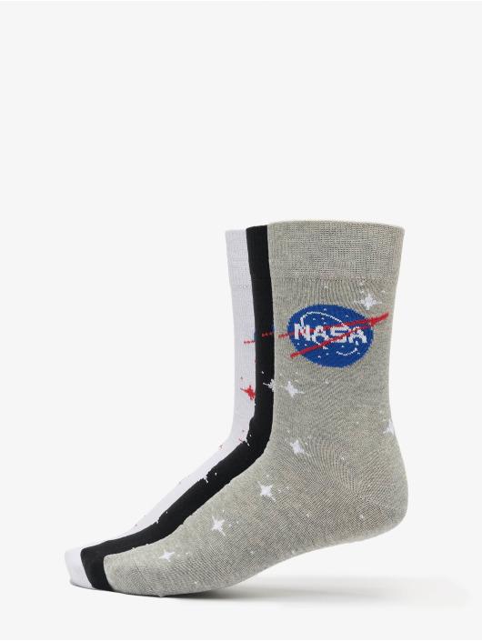 Mister Tee Strømper Nasa Insignia Socks 3-Pack sort
