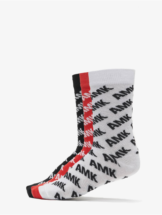 Mister Tee Strømper Amk Allover Socks 3-Pack sort