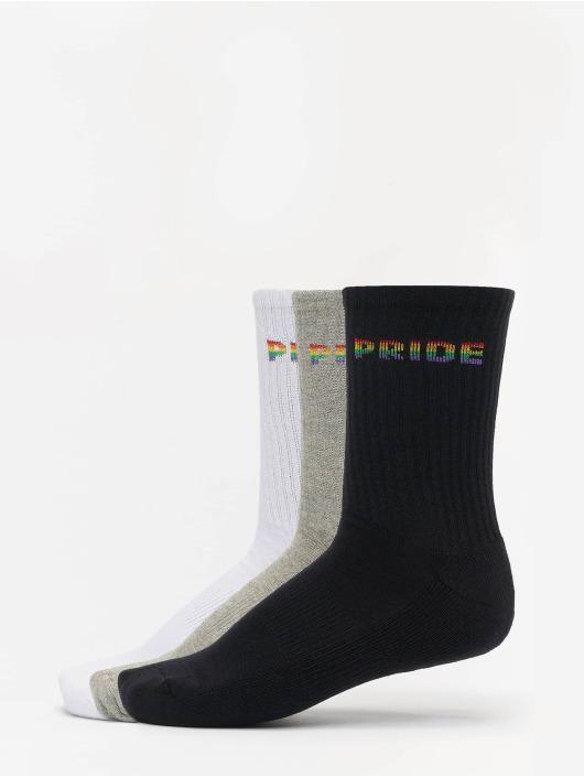 Mister Tee Sukat Pride 3-Pack valkoinen