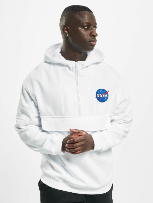 Chest Blanc Capuche Homme Nasa Embroidery Sweat Tee 587835 Mister VUMSpqz
