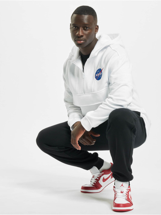 Mister Tee Sweat capuche Nasa Chest Embroidery blanc