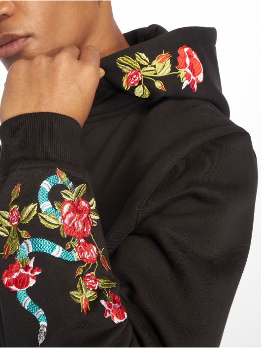 Embroidery Mister 574774 Capuche Flowers Homme Sweat Tee Noir wXNnOZk08P