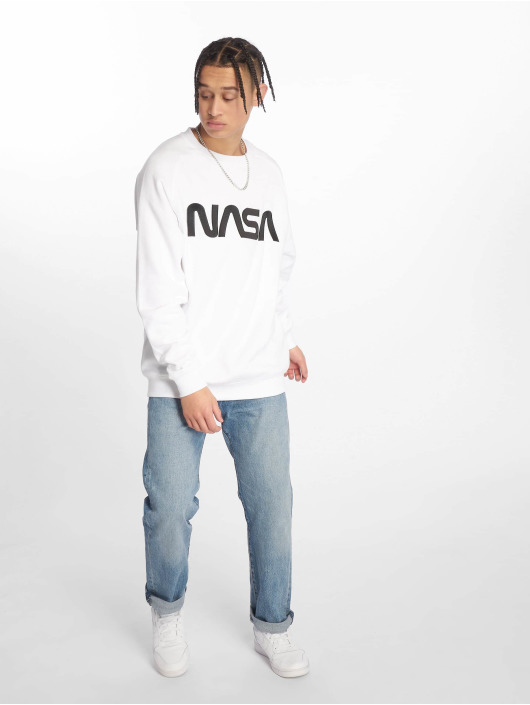 Mister Tee Swetry Nasa Emb bialy