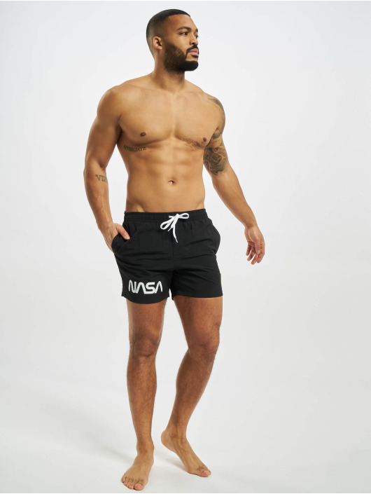 Mister Tee Swim shorts NASA Worm Logo black