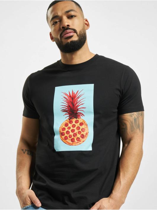 Mister Tee T-paidat Pizza Pineapple musta