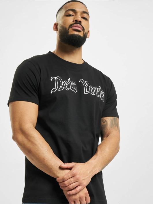 Mister Tee T-paidat New York Wording musta