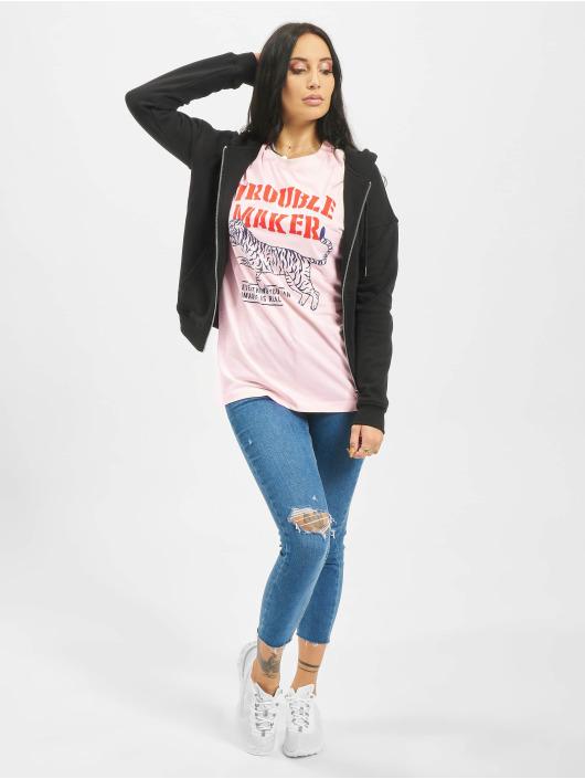 Mister Tee T-paidat Troublemaker vaaleanpunainen