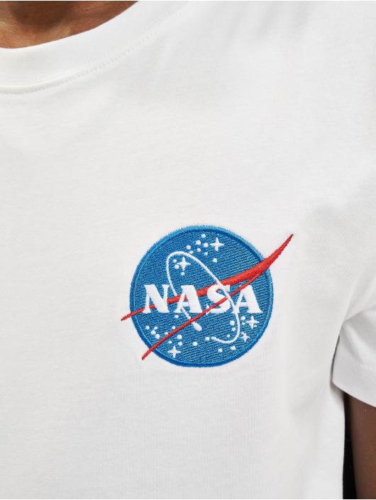 Mister Tee T-paidat Nasa Logo Embroidery valkoinen