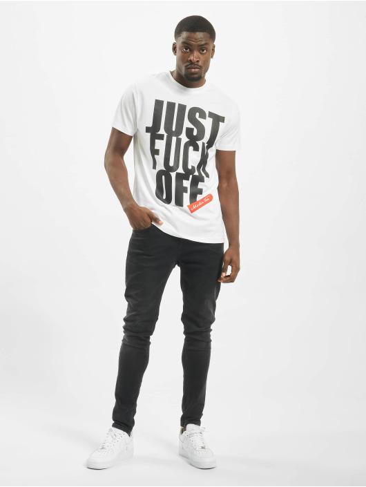 Mister Tee T-paidat Fuck Off valkoinen