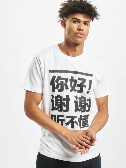 Mister Tee T-paidat Ni Hao valkoinen