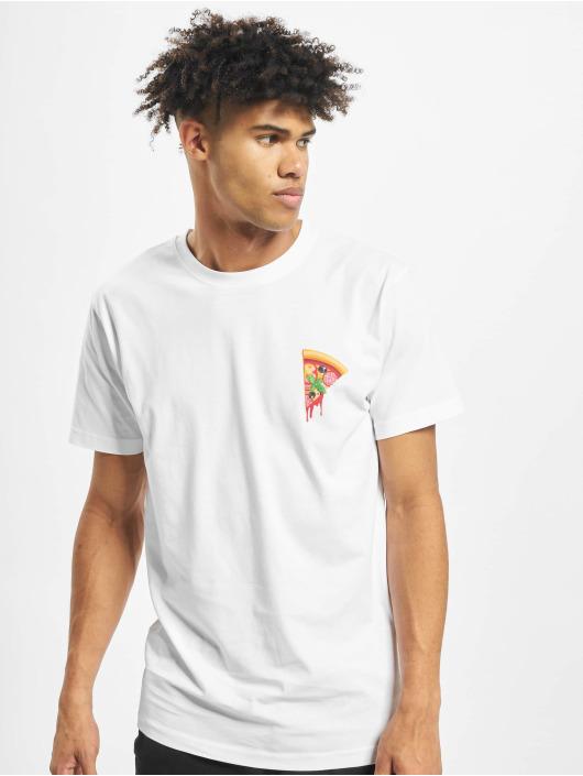 Mister Tee T-paidat Create Your Pizza valkoinen