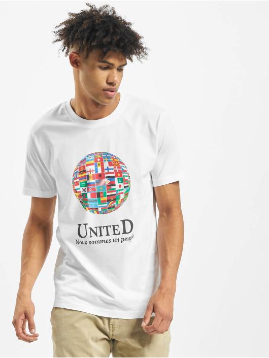 Mister Tee T-paidat United World valkoinen