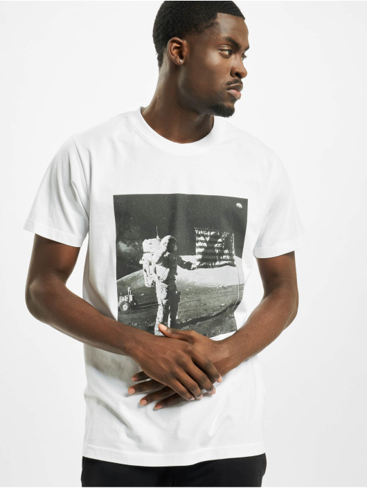 Mister Tee T-paidat Nasa Moon Landing Tee valkoinen