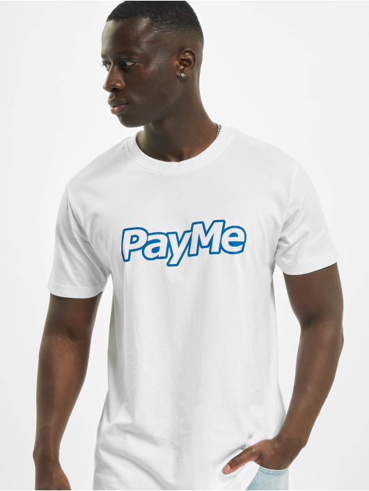 Mister Tee T-paidat Pay Me Outline valkoinen