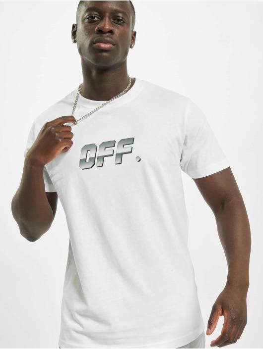 Mister Tee T-paidat Shiny Off valkoinen