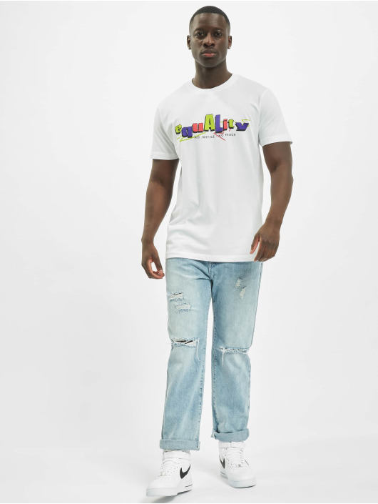 Mister Tee T-paidat Colored Equality valkoinen