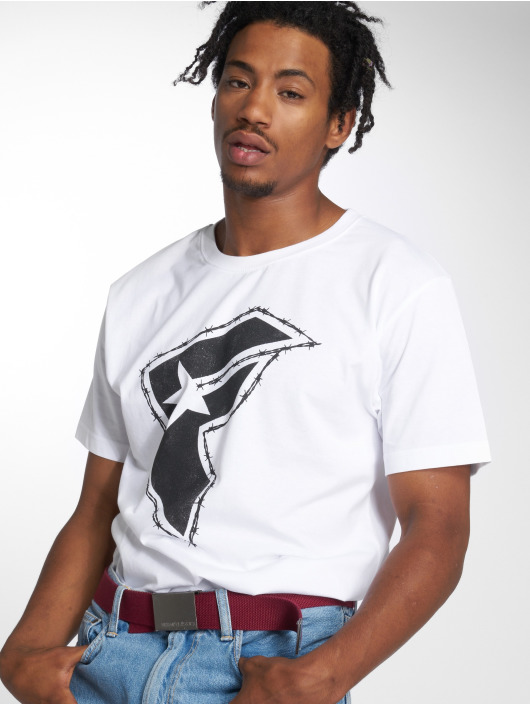 Mister Tee T-shirt Barbed bianco