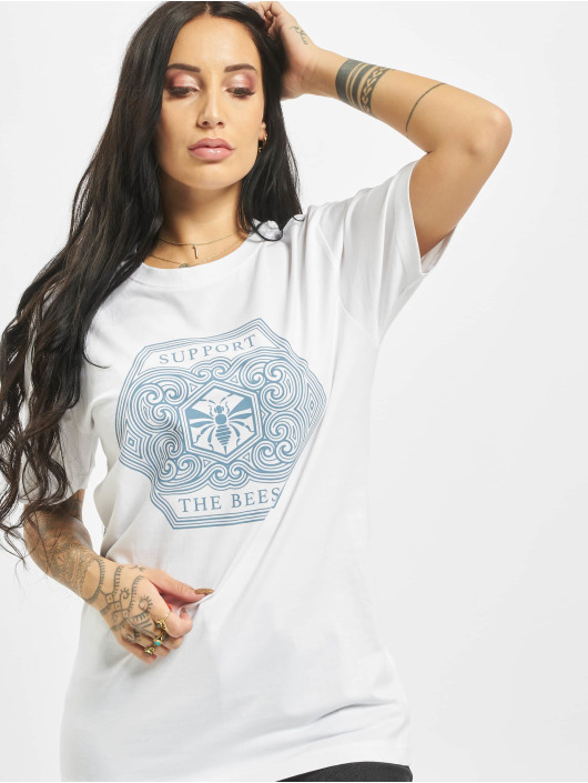 Mister Tee T-shirt Support The Bees bianco