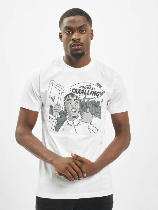 Mister Tee T-shirt Caaalling bianco