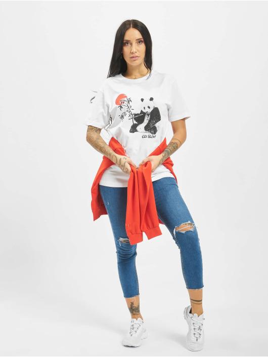 Mister Tee T-shirt Go Slow bianco