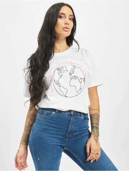 Mister Tee T-shirt Planet Earth bianco