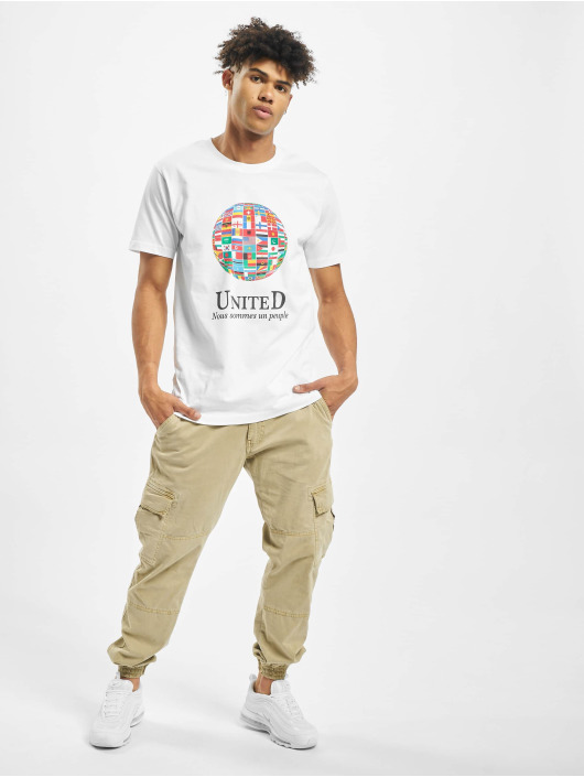 Mister Tee T-shirt United World bianco