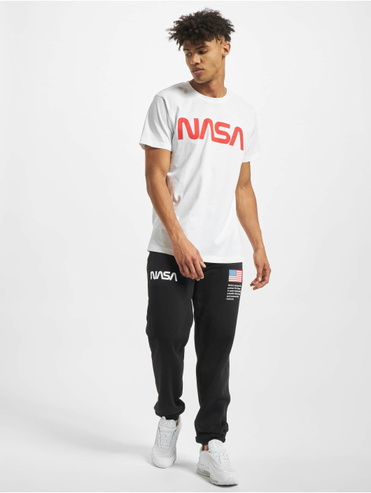 Mister Tee T-shirt NASA Worm bianco