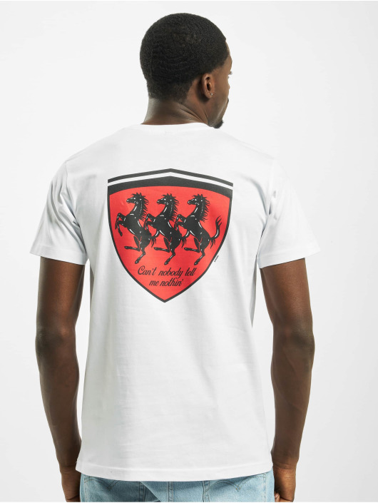 Mister Tee T-shirt Horses In The Back bianco