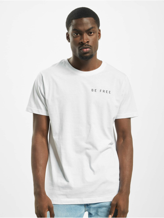 Mister Tee T-shirt Be Free Stay Wild bianco